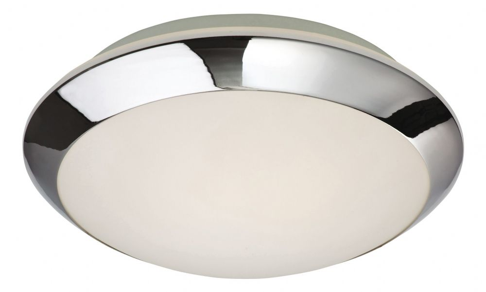 Firstlight 6099CH Chrome with Opal Glass Mondo Flush Fitting